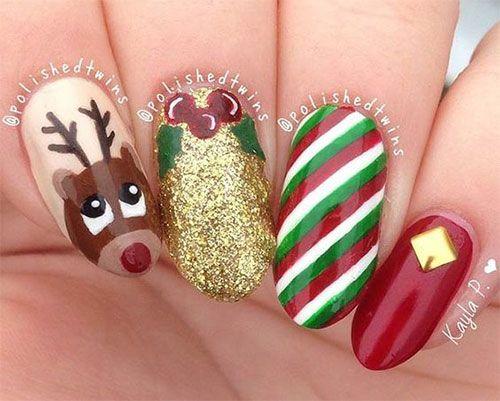 Weihnachtsnägel