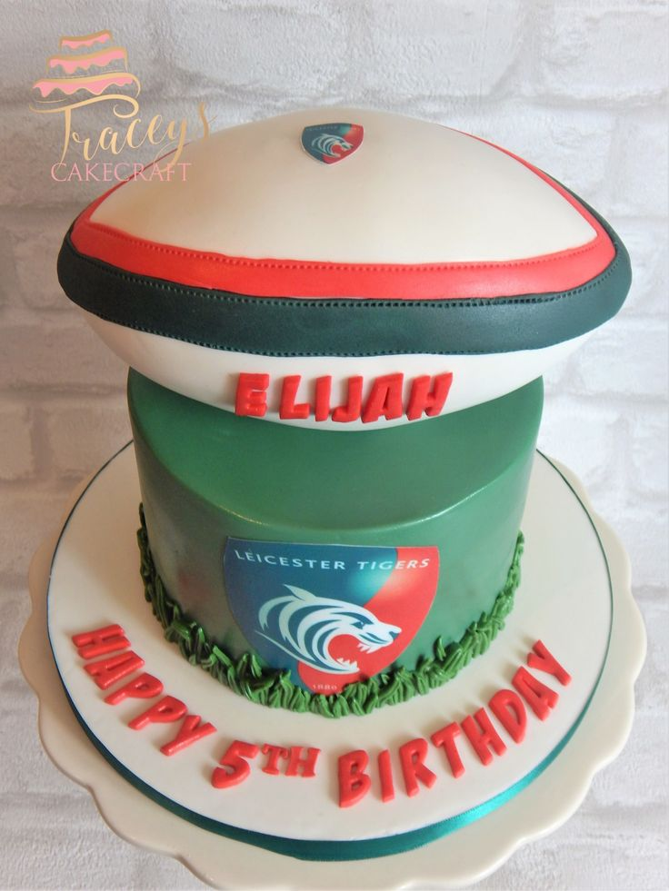 Leicester Tigers Rugby Cake