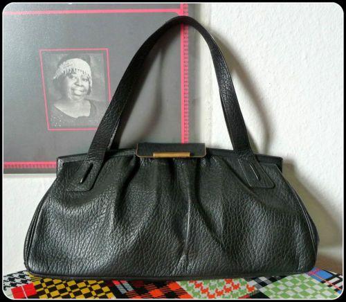 Luxus-40er-50er-Leder-Tasche-Handtasche-Henkeltasche-Handbag-Bag-Rockabilly