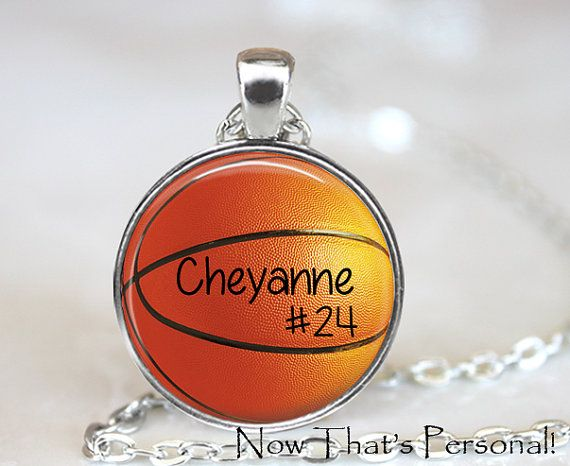 CUSTOM BASKETBALL PENDANT - custom basketball key chain with Player's name and number  by NowThatsPersonal, $15.95