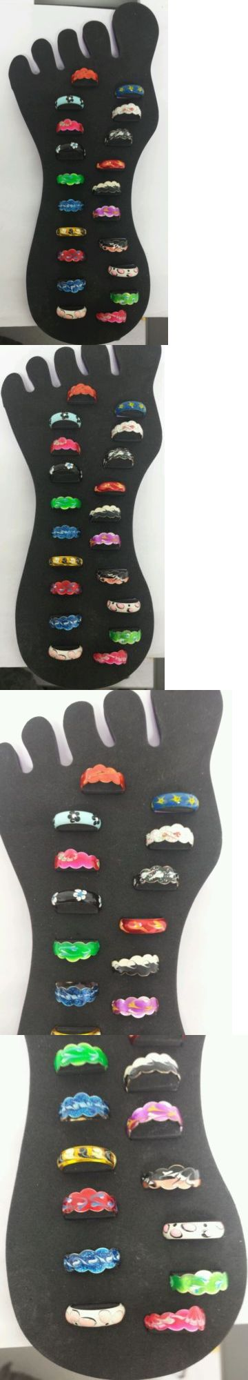 Other Wholesale Body Jewelry 51011: 925 Sterling Silver Hand Painted Toe Ring Adjustable Wholesale 20 Pcs Lot BUY IT NOW ONLY: $58.0
