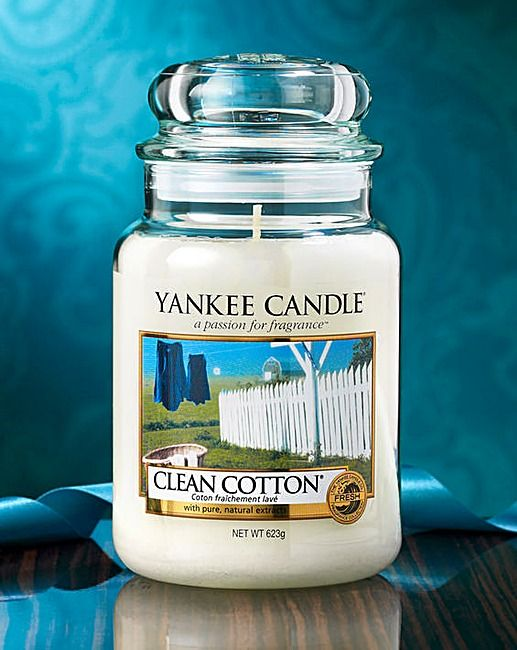 Yankee Candle Clean Cotton Large Jar | The Brilliant Gift Shop