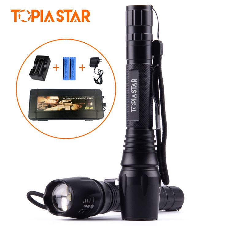 ==> [Free Shipping] Buy Best TOPIA STAR Rechargeable Led Torches Light Powerful Zoomable Flashlights Battery and Charger Included Online with LOWEST Price   32801424016