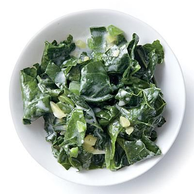 Wilted Kale with Coconut, Ginger, and Lime | CookingLight.com