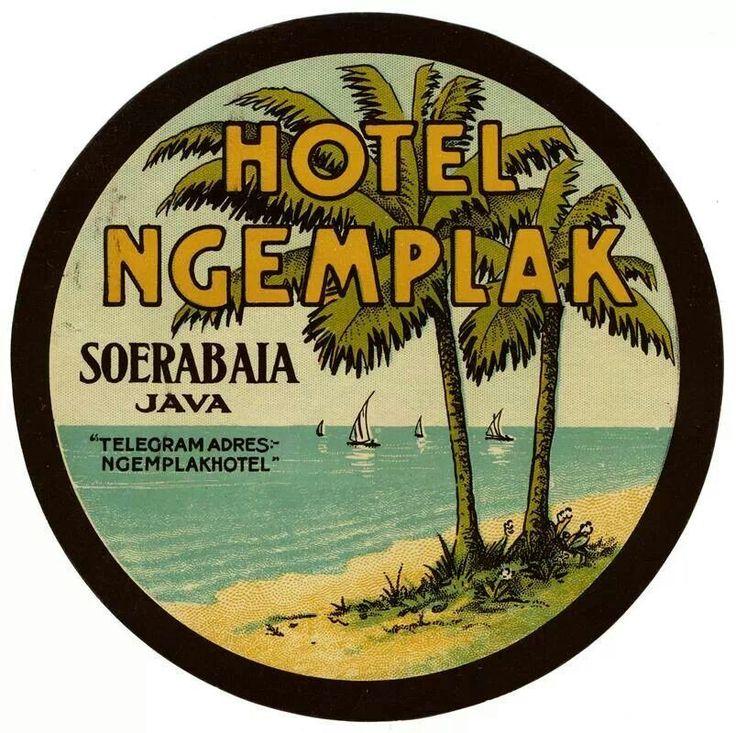 hotel Ngemplak Surabaya, Indonesia- vintage ad