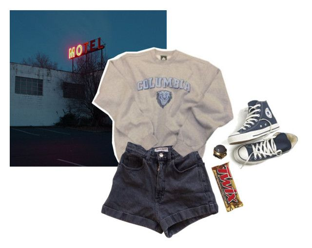 """baby say goodbye"" by junk-food ❤ liked on Polyvore featuring moda, Converse, Columbia e American Apparel"