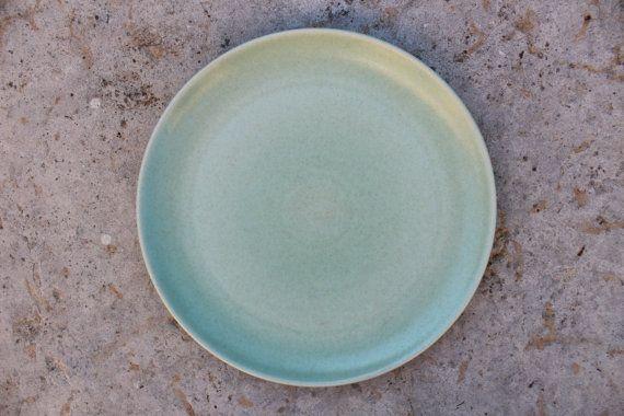 Scandinavian Höganäs Dinner Plate Swedish Vintage Light Mint