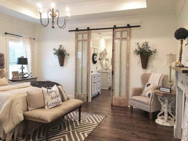 01 Romantic Farmhouse Master Bedroom Ideas In 2019