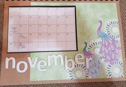 November perpetual calendar