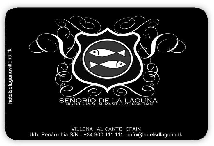 Tarjeta Corporativa  del Hotel Señorío de la Laguna – Villena Un nuevo concepto en el turismo de interior de la Costa Blanca.  *** HOTEL NO REAL. FORMA PARTE DEL PROYECTO FINAL DEL CURSO SMTURISMO ***