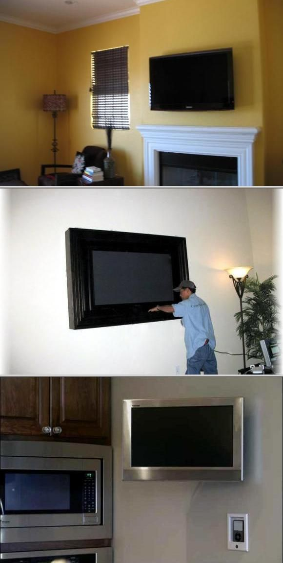 flat screen tv on wall with surround sound. choose this reliable company if you need affordable surround sound installation services. they also offer flat screen tv on wall with