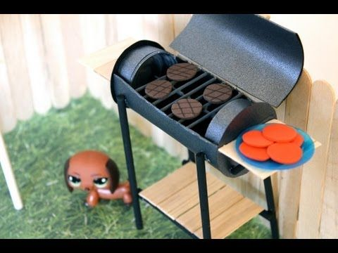 How to Make a Doll BBQ Grill. This lady is absolutely amazing she has inspiring ideas for American Girl dolls, Barbie dolls, Monster High dolls and Lala loopsy dolls. Sh is the best!!!