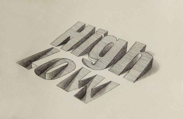 Tipografías en tercera dimensión hechas a mano