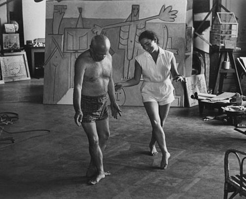 Picasso #Picasso dancing in the studio - a priceless moment