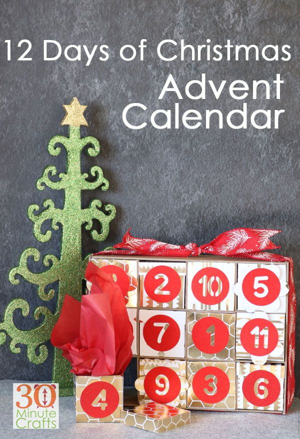 12 Days Of Christmas Advent Calendar Made With The Cricut Maker Cricutmade Cricuthol Christmas Advent Calendar Christmas Advent Calendar Diy Christmas Advent