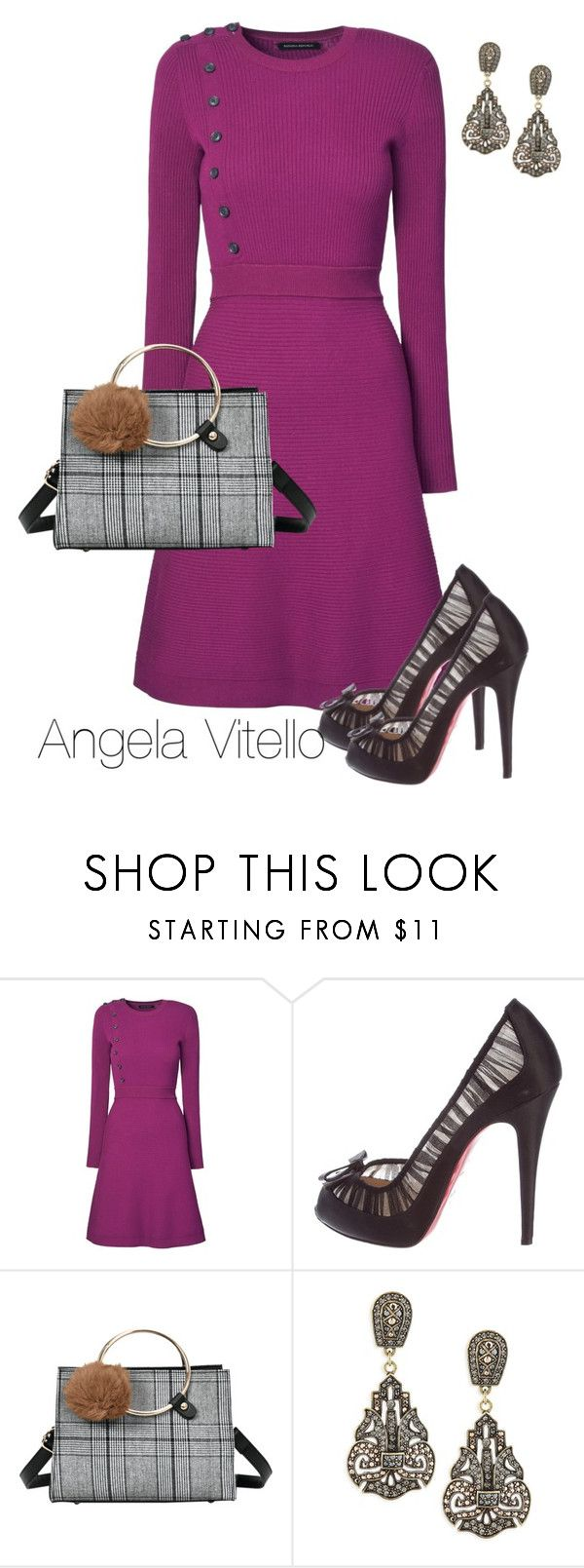 """Untitled #1051"" by angela-vitello on Polyvore featuring Christian Louboutin and Heidi Daus"