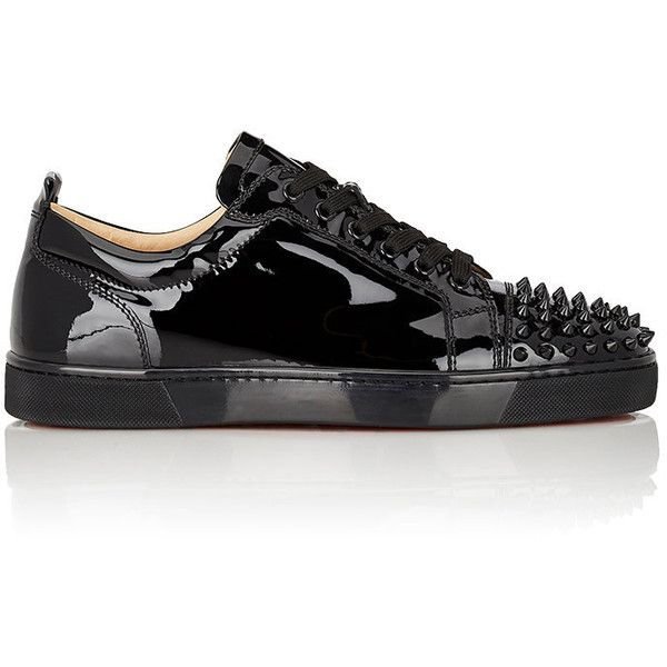 christian louboutin mens black and white shoes