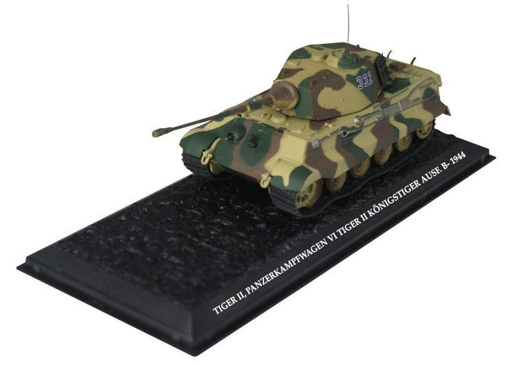 Tiger II Ausf. B German Tank WWII Diecast Amercom 1/72 New Model