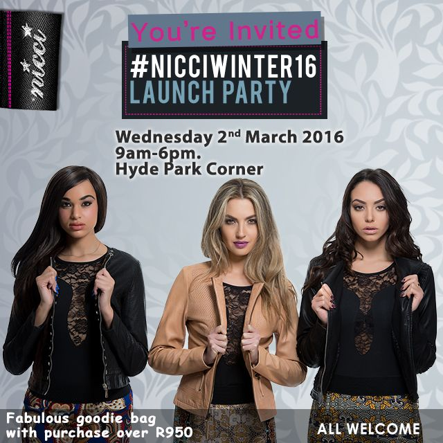 #NicciWinter16 launch #Invite #event #launch