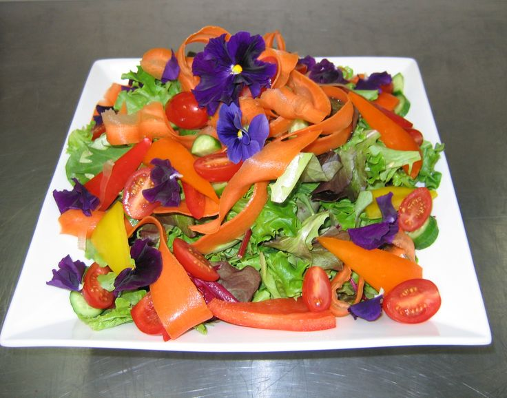 Plated Salad Carrot Ribbons