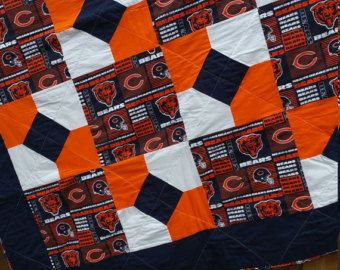 8 best Chicago bears quilt images on Pinterest | Amish quilts ... : chicago bears quilt - Adamdwight.com