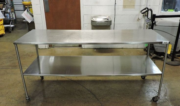 """Commercial All Stainless Steel Work Table with Undershelf - 72"""" x 24"""""""