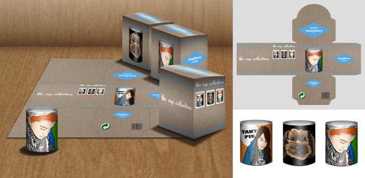 Mockup del packaging de mis futuras tazas. #Cups #Personalize #ComicPortrait