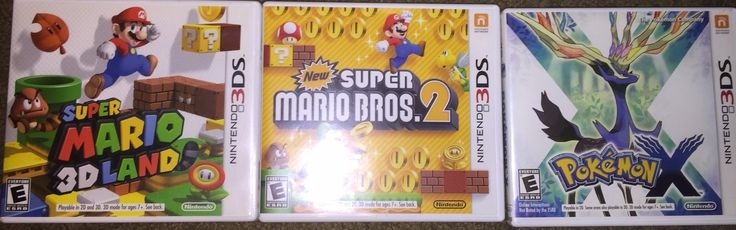 Nintendo 3DS - Super Mario 3D Land 3DS + Super Mario Bros 2 3DS + Pokemon X: $74.99 End Date: Wednesday Mar-21-2018 4:49:27 PDT Buy It Now…