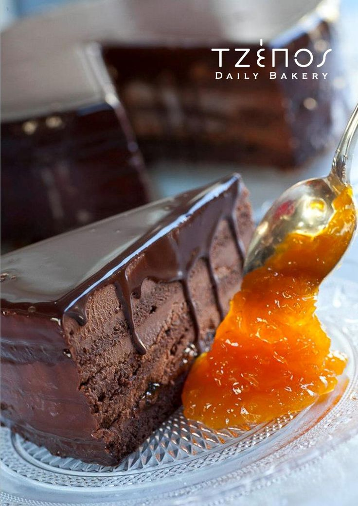 Sacher Torte with apricot jam