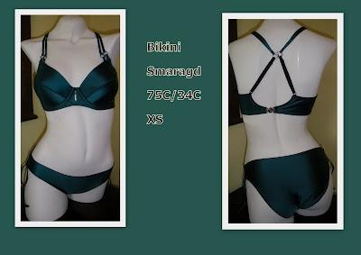 Emerald green bikini by Poetsie
