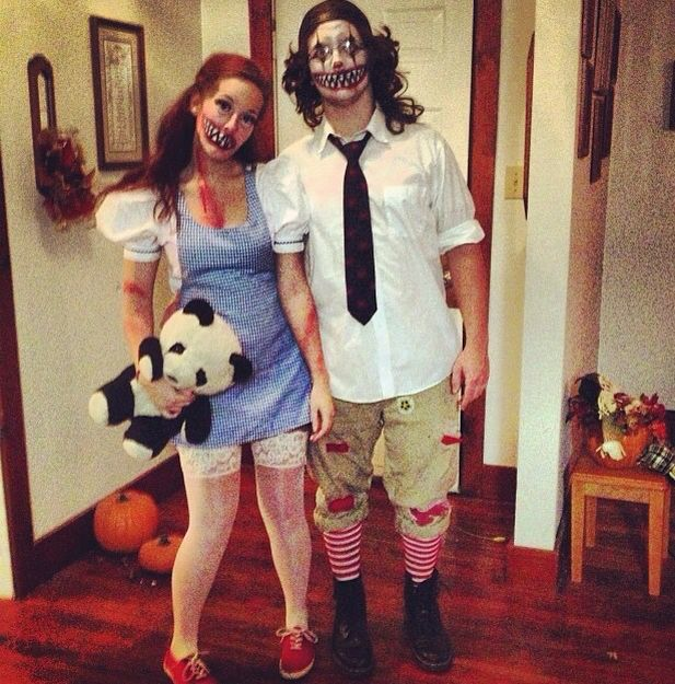 scary raggedy ann and raggedy andy for couples halloween costume - Couple Halloween Costumes Scary