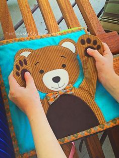 Bear page for quiet book