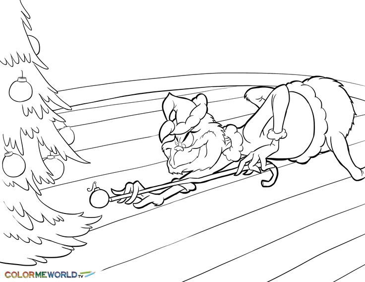 The Grinch Coloring Pages Free