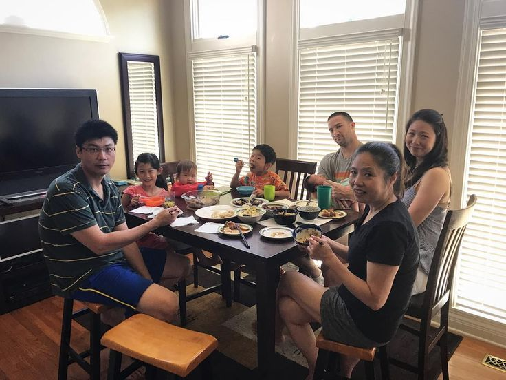 Kicking off the 4th of July weekend with Chef Billy's food and Nancy's family. #4thofjuly #4thofjulyweekend #newbaby #bigsister #family #siblinglove #moments #friends #homemade #food