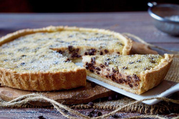 Crostata+Facile+Ricotta+e+Cioccolato