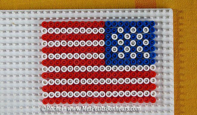 Modèles de drapeaux en perles Hama pour encadrer celui des J.O.