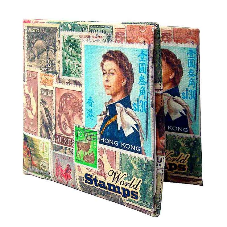 World Stamps paper  wallet