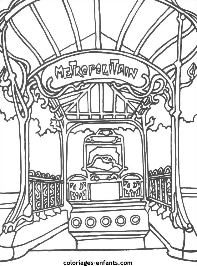 Perfect French Coloring Book 32 Coloriage du m tropolitain