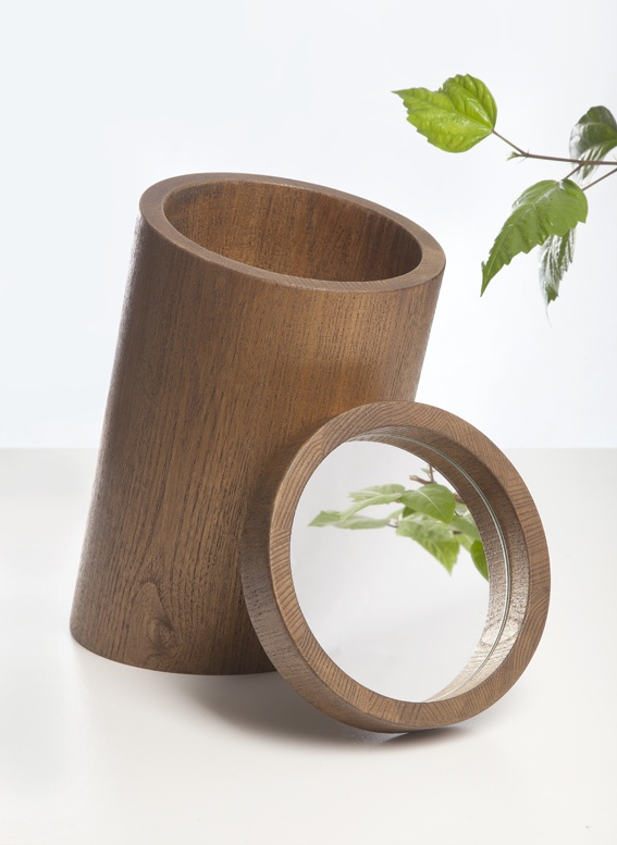 Kmínky /Trunks/- collection of jewel cases with a mirror evokes a group of cut down trees as a reaction to the rapid retreat of the forest. It holds the mirror of today up to us, pointing out the direction we are taking_2011_Lenka Damová