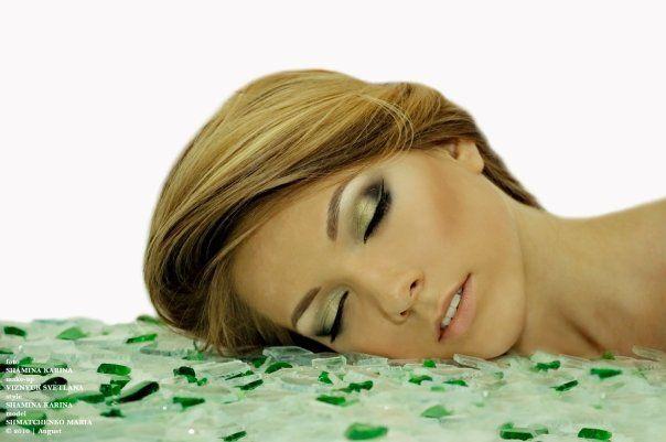 Prachtige Groene Oogschaduw -- Beautiful Green Eyeshadow.