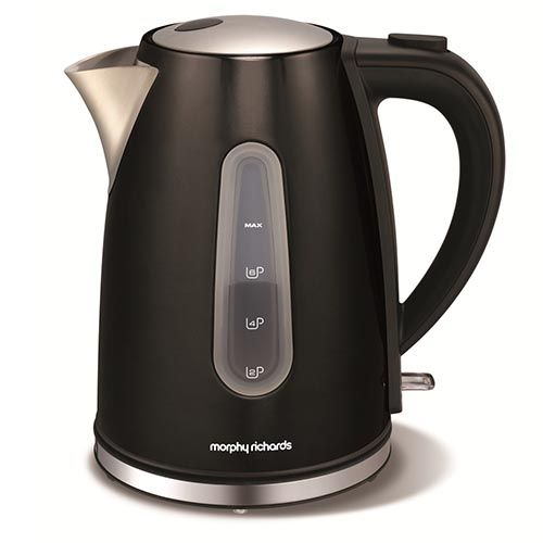 The metallic Black Accents Jug kettle is both stylish and efficient - the perfect addition to any modern kitchen.