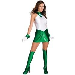 Ladies Sexy Green Lantern Costume For Halloween Fancy Dress