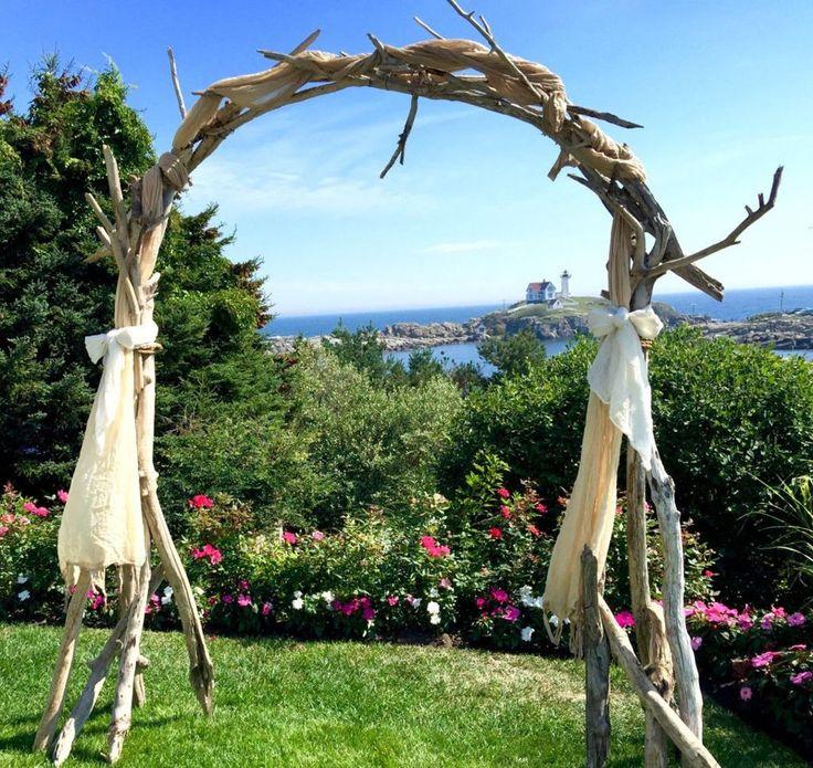 Beach Wedding Arch Ideas: Wooden Wedding Arch : Driftwood Rustic Wedding Arch With