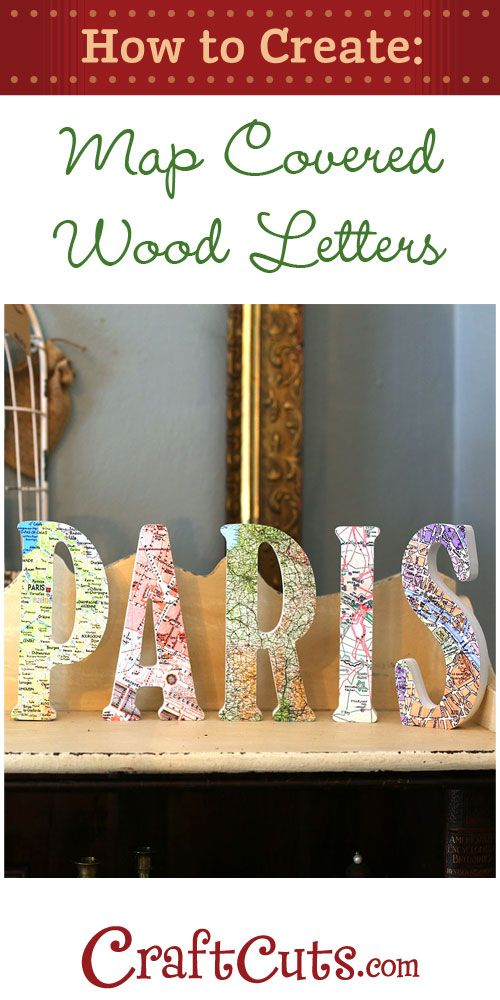 How to Make Map Letters CraftCutscom