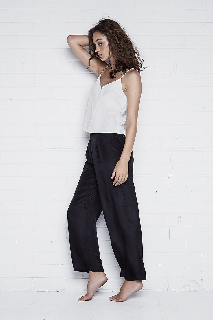 Hunter Rose - Olivia Monochrome Silky Pajamas Set