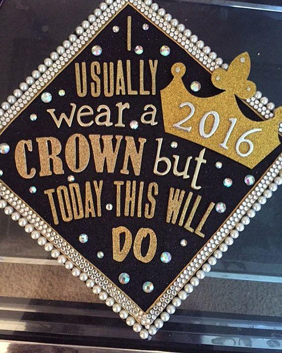 Custom Graduation Topper by GiftedHandsByTania on Etsy