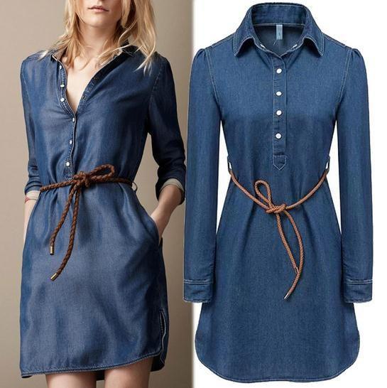 25 womens denim dress ideas on s