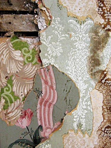 This is a dream of mine, to uncover such amazing old layers of wallpaper!