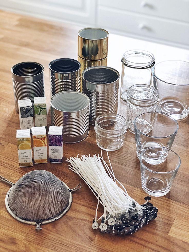 Diy Kerzen Aus Wachsresten Selbst Giessen Diy Wax Homemade