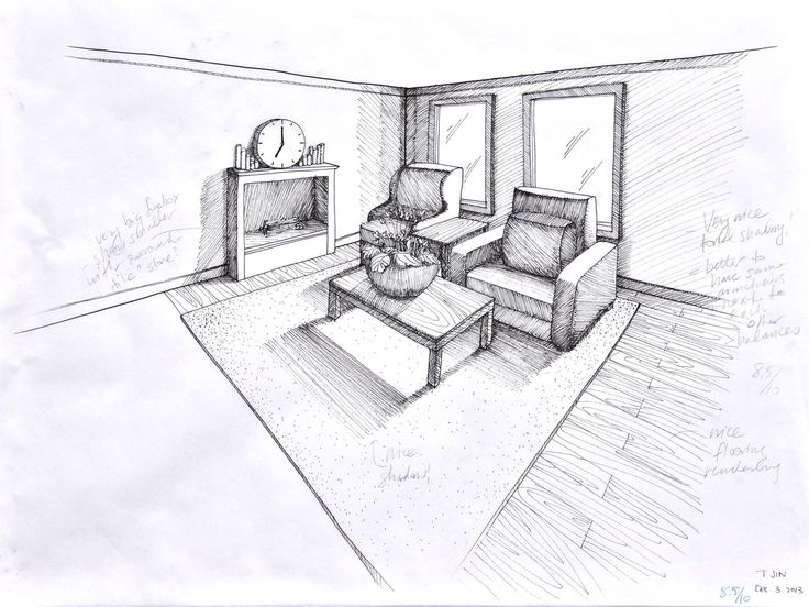 10 best dibuix images on pinterest perspective drawing for Living room 1 point perspective